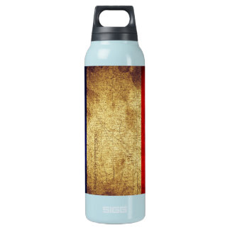 Flag of France Grunge Insulated Water Bottle
