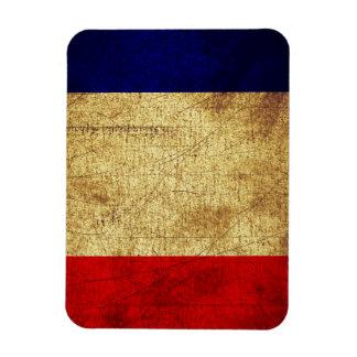 Flag of France Grunge Rectangular Photo Magnet
