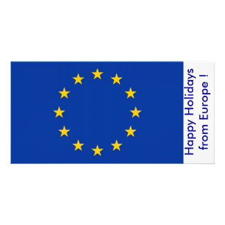 Flag of France, Happy Holidays from Europe Card