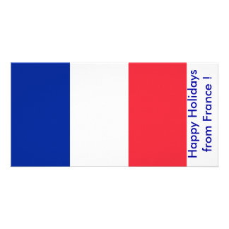 Flag of France Happy Holidays from France Photo Cards