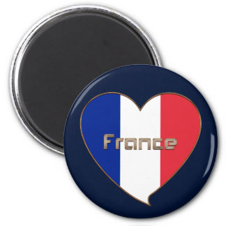 Flag of FRANCE in the heart and national flag