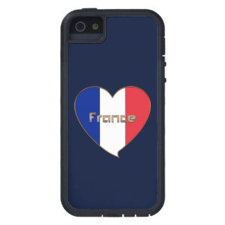 Flag of FRANCE in the heart and national flag Case For iPhone SE/5/5s