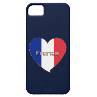Flag of FRANCE in the heart and national flag iPhone SE/5/5s Case