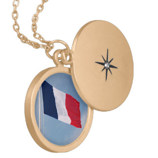Flag of France Locket Necklace