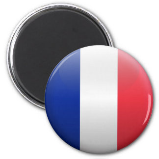 Flag of France 2 Inch Round Magnet