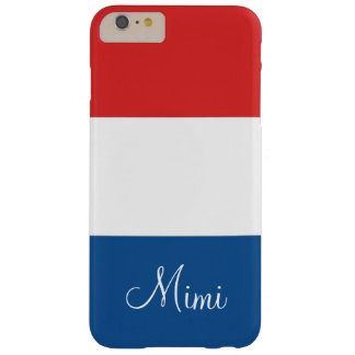 Flag of France Personalized Barely There iPhone 6 Plus Case