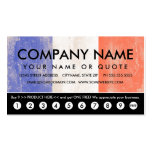 flag of france punch card Double-Sided standard business cards (Pack of 100)