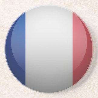 Flag of France Sandstone Coaster