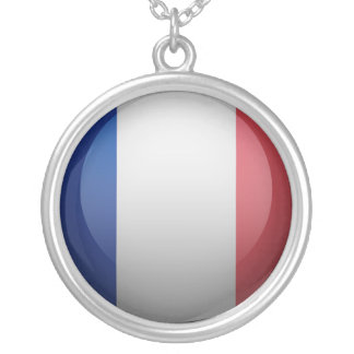 Flag of France Silver Plated Necklace
