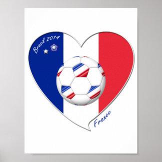 Flag of FRANCE SOCCER of national team 2014 Poster