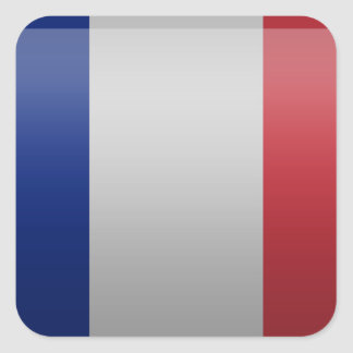 Flag of France Square Stickers