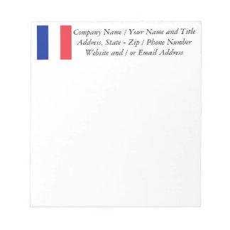 Flag of France, Tricolour National Flag Notepad