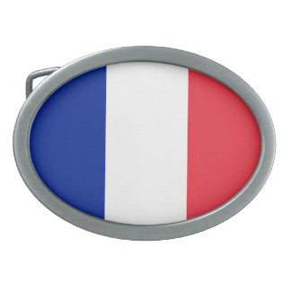 Flag of France, Tricolour National Flag Oval Belt Buckle