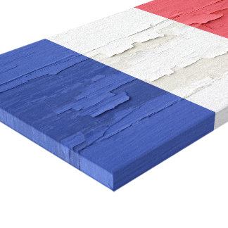 Flag of France Weathered Paint Canvas Print