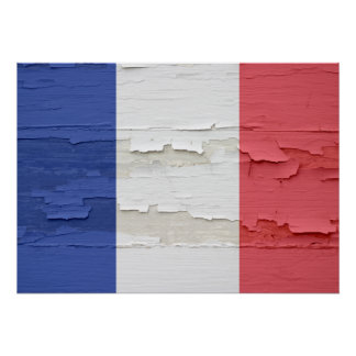 Flag of France Weathered Poster