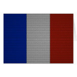 Flag of France with Carbon Fiber Effect Cards