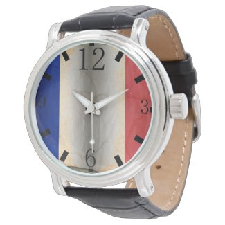 Flag of France Wrist Watch