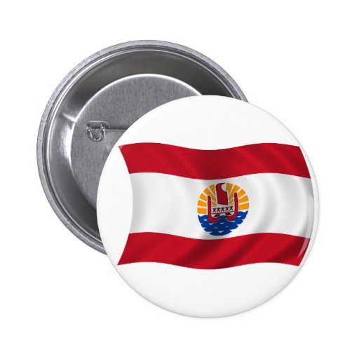 Flag of French Polynesia Pinback Buttons