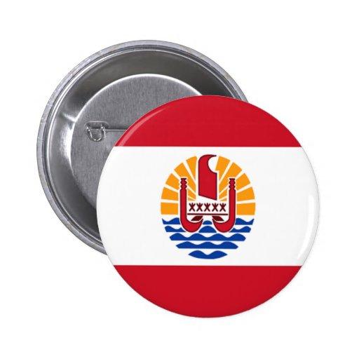 Flag of French Polynesia Pinback Button