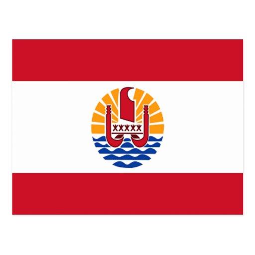 Flag of French Polynesia Post Card