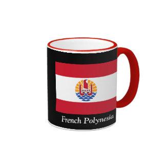Flag of French Polynesia Ringer Mug