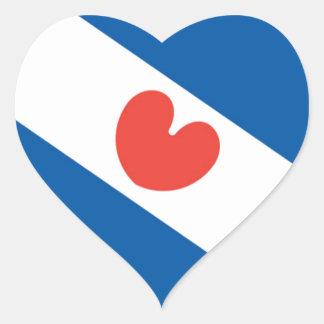 Flag of Friesland Heart Sticker