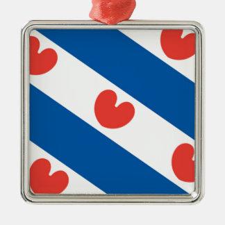Flag of Friesland Metal Ornament