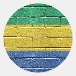 Flag of Gabon Round Stickers