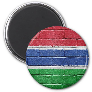 Flag of Gambia 2 Inch Round Magnet