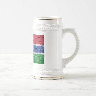 Flag of Gambia Beer Stein