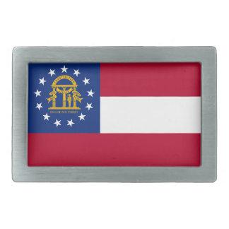 Flag of Georgia Belt Buckle