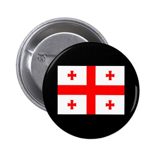 Flag of Georgia (country) Buttons