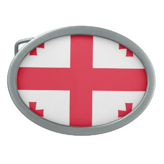Flag of Georgia (country) - Oval Belt Buckle