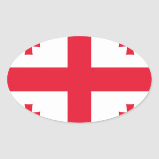 Flag of Georgia (country) - Oval Sticker