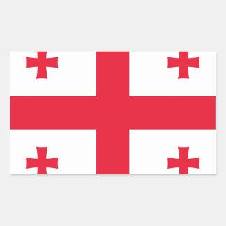 Flag of Georgia (country) - Rectangular Sticker