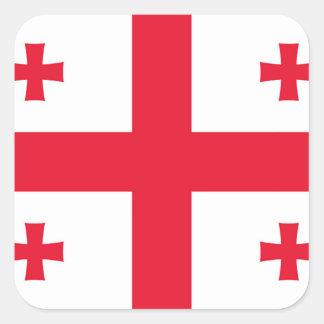 Flag of Georgia (country) - Square Sticker