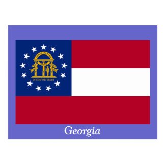 Flag of Georgia Postcard