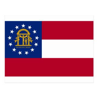 Flag of Georgia Postcard