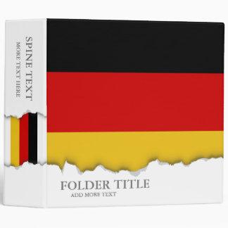 Flag of Germany 3 Ring Binder