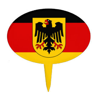 Flag of Germany - Bundesdienstflagge Cake Topper