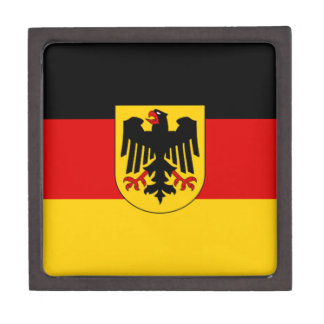 Flag of Germany - Bundesdienstflagge Jewelry Box