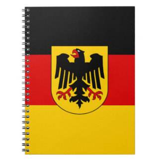 Flag of Germany - Bundesdienstflagge Spiral Notebook