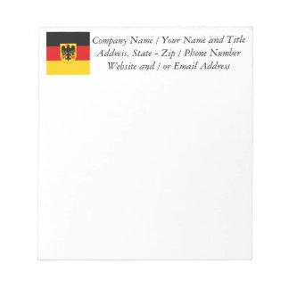 Flag of Germany - Bundesdienstflagge Notepad