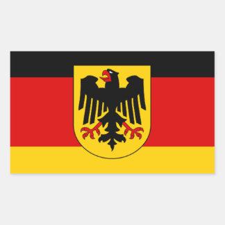 Flag of Germany - Bundesdienstflagge Rectangular Sticker