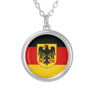 Flag of Germany - Bundesdienstflagge Silver Plated Necklace