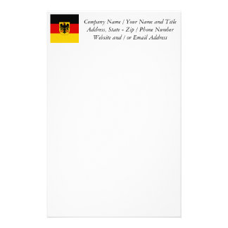 Flag of Germany - Bundesdienstflagge Stationery