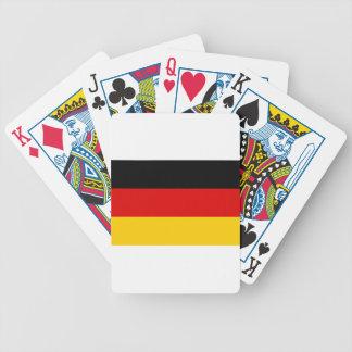 Flag of Germany - Bundesflagge und Handelsflagge Bicycle Playing Cards