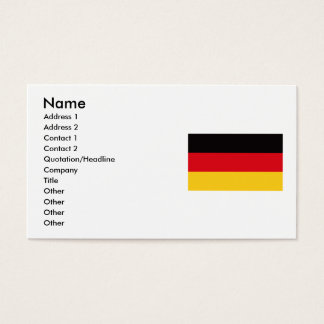Flag of Germany Business Card