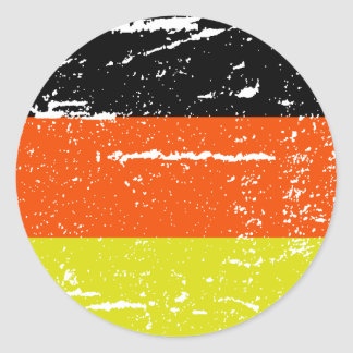FLAG OF GERMANY CLASSIC ROUND STICKER