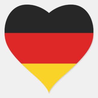 Flag of Germany Deutschland Heart Sticker